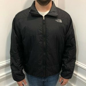 The North Face L Jacket Mens Black Full Zip Pocket